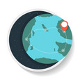 logistics icon with commercial route on globe map vector image
