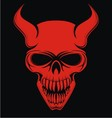 Red Devil Skulls vector image
