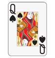 Jumbo index queen of spades vector image vector image