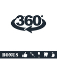 360 degree icon flat vector image