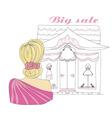 Stylish girl shopping doodle vector image vector image