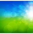 Summer beautiful landscape view with sunlight vector image