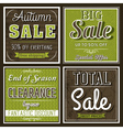 Square banners with sale offer vector image