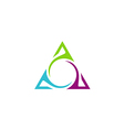 unusual triangle abstract business logo vector image