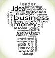 Wordcloud business lightbulb vector image