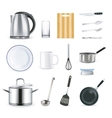 Realistic Kitchen Utensils vector image