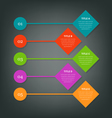 Steps for business info-graphics vector image