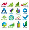 big set of logos Finance vector image