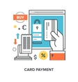 card payment concept vector image