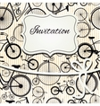Hipster invitation card in vintage style vector image