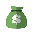 money bag business finance flat icon vector image