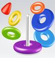 Rainbow children toy pyramid vector image