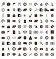 100 money icons set simple style vector image