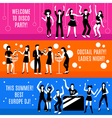 Disco Party Banners Set vector image