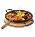 spanish food paella vector image vector image