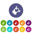 pug dog set icons vector image
