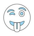funny cartoon face design vector image