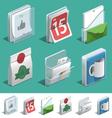 Basic Printing icons vector image vector image