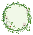frame with flowers of clover vector image vector image
