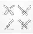 Combat crossed knife logo vector image vector image