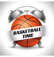 Basketball time vector image