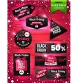 Black Friday Sale paper tags labels and banners vector image