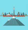canada city creek mountain nature skyline peak vector image
