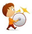 cartoon band drummer vector image