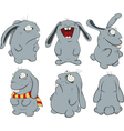 Clipart blue rabbits vector image