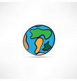 hand drawn earth vector image