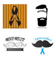 movember graphic design vector image