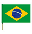 national flag of brazil icon isolated vector image