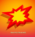Retro card with explosion sign vector image