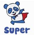 Super panda for t-shirt design vector image