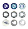 luxury play icon set vector image vector image