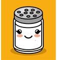 cute kawaii salt meal vector image