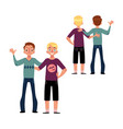 male friendship concept couple of boys friends vector image vector image