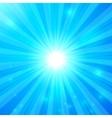 Blue shining light background vector image