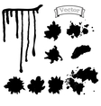 Set blots and smudges of paint vector image