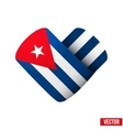 Flag icon in the form of heart I love Cuba vector image