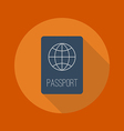 Travel Flat Icon Passport vector image