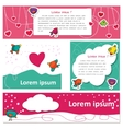 Cute Bird lovers on Valentine s Day vector image