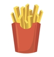 French fries potato icon cartoon style vector image