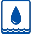 big water drop and wave vector image