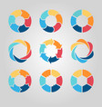 business circle infographics set vector image