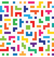 Colorful tetris seamless vector image