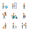 Delivery Person Freight Logistic Business Service vector image