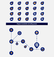 Editable business diagram template with icons vector image