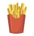 French fries potato icon cartoon style vector image