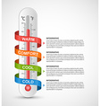 Infographics thermometer surrounded by vector image